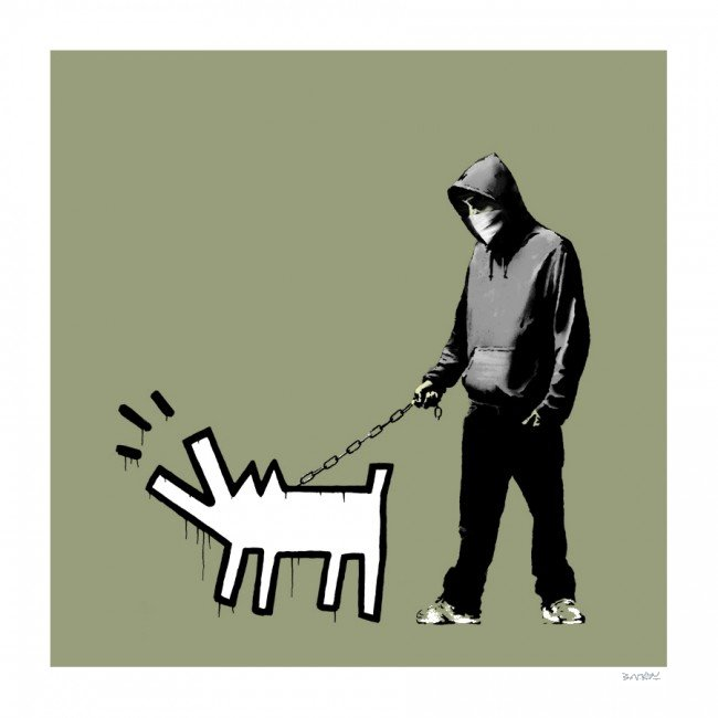 Choose Your Weapon (Olive) by Banksy
