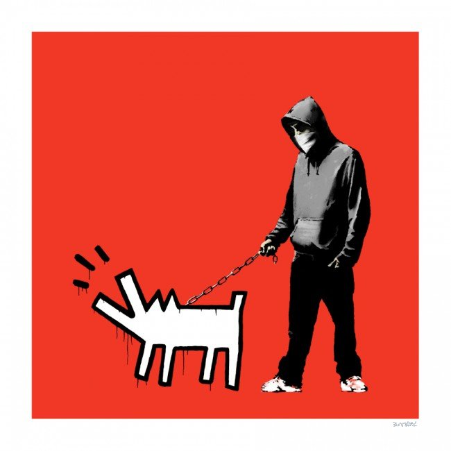 Choose Your Weapon (Red) by Banksy