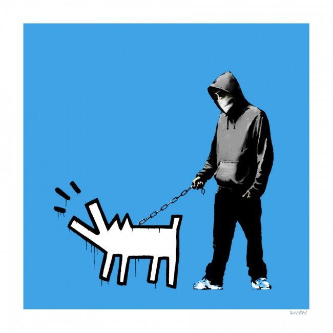 Banksy Choose Your Weapon (Sky Blue)