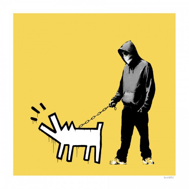 Choose Your Weapon (Soft Yellow) by Banksy