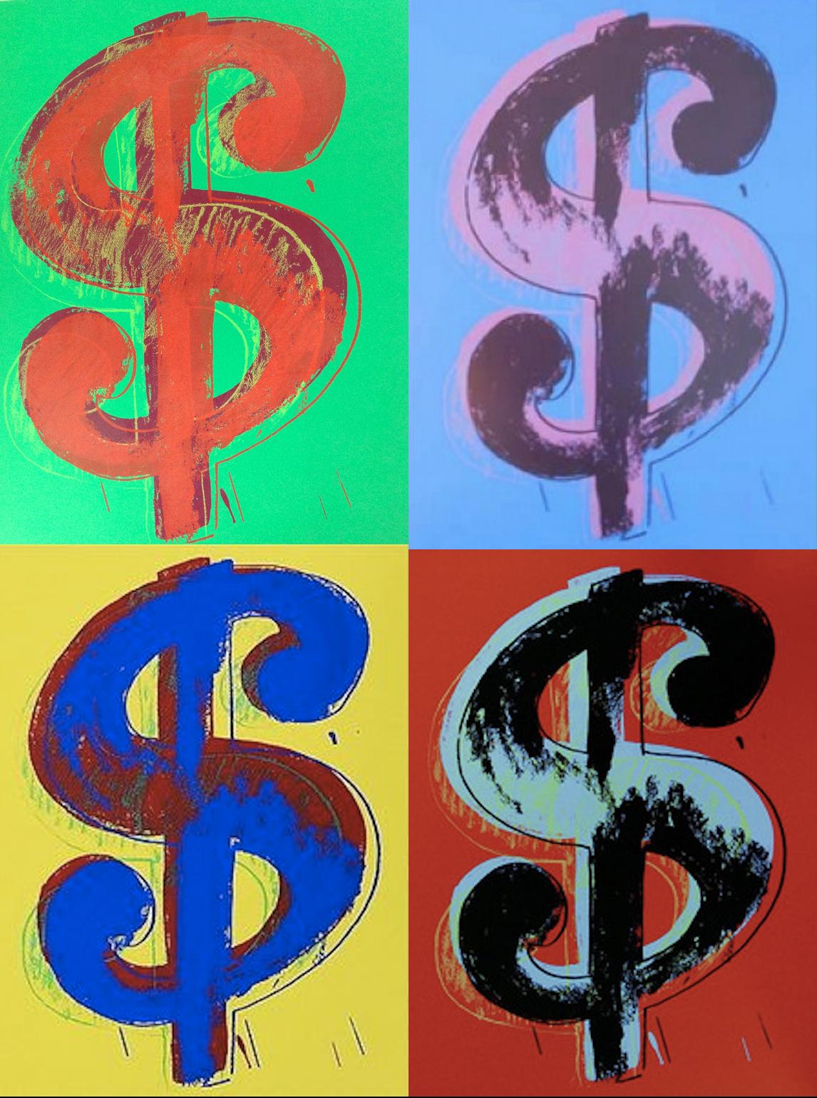 Single Dollar Sign Portfolio by Andy Warhol