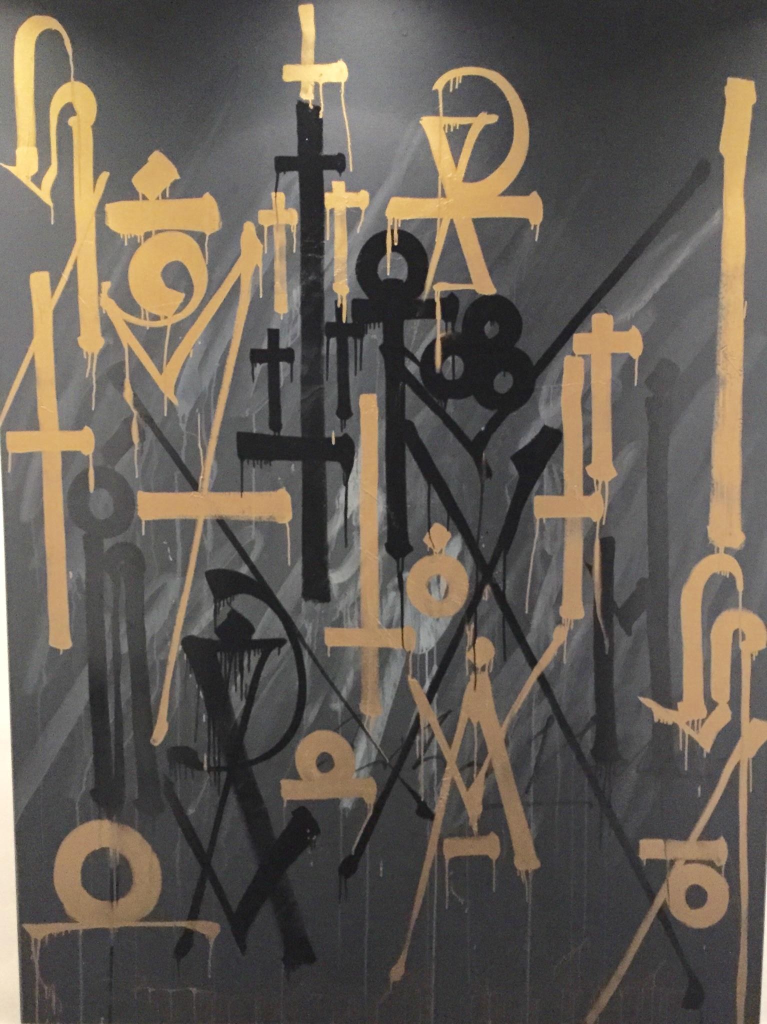 Untitled Black and Gold by Retna
