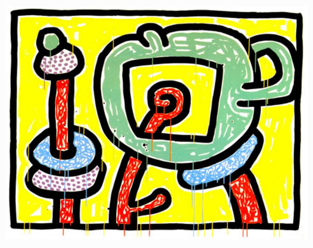 Flowers III by Keith Haring