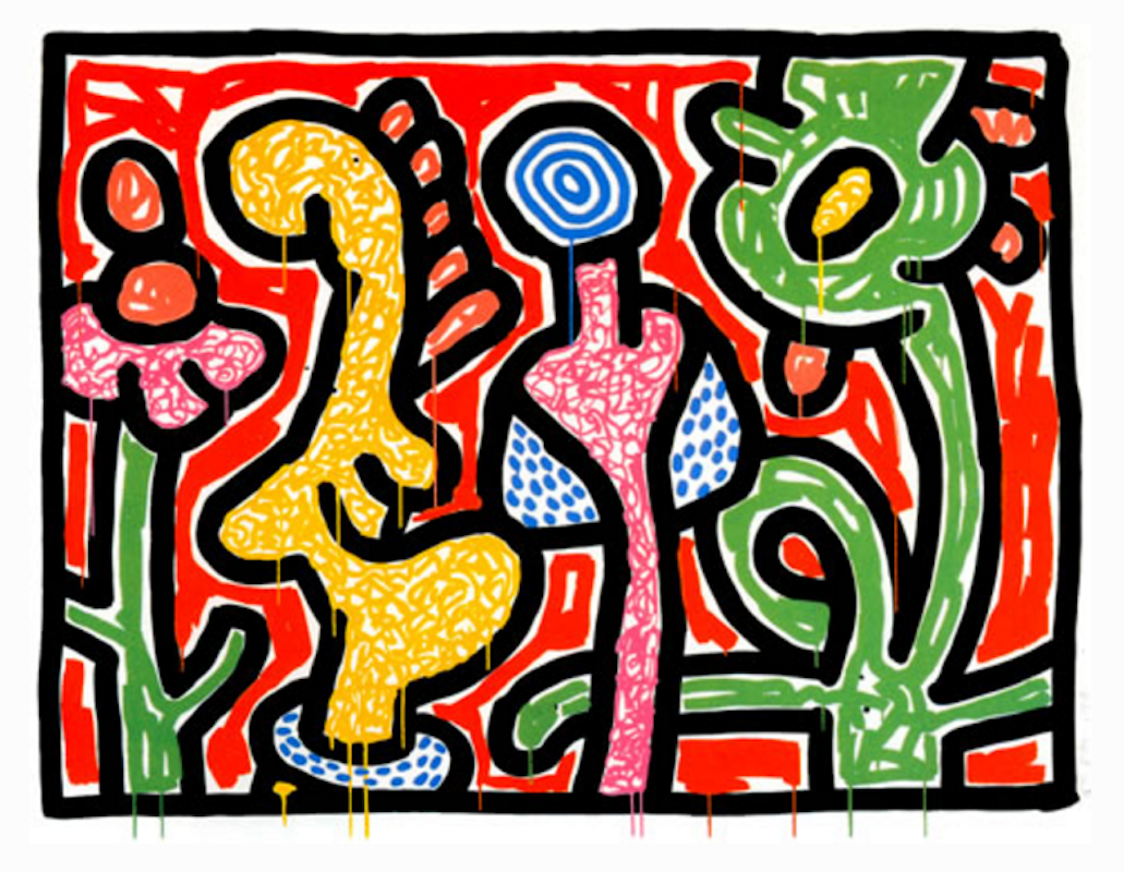 Flowers IV by Keith Haring