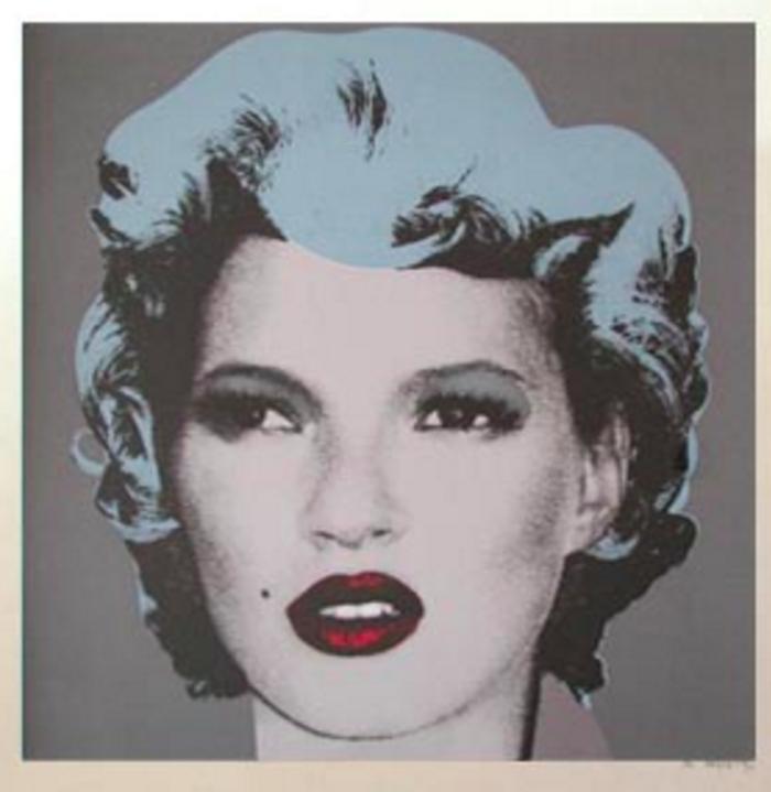 Grey Kate Moss by Banksy