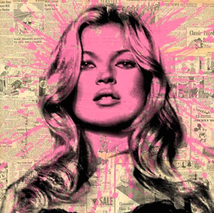 Kate Moss (Pink) Print – Mr. Brainwash