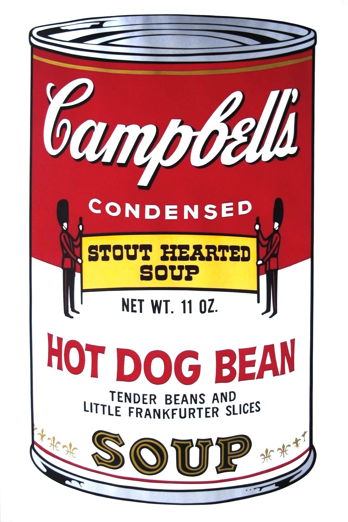 Campbell's Hot Dog Bean by Andy Warhol