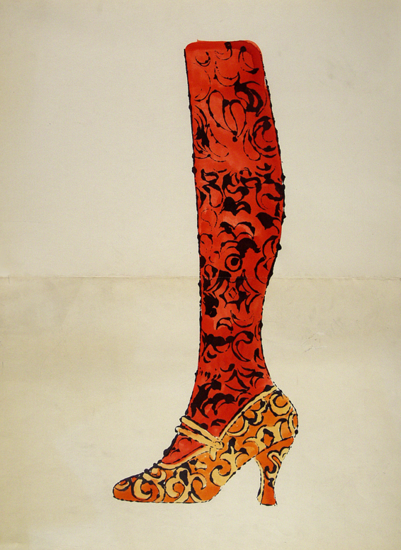 Gee, Merrie Shoes Shoe by Andy Warhol