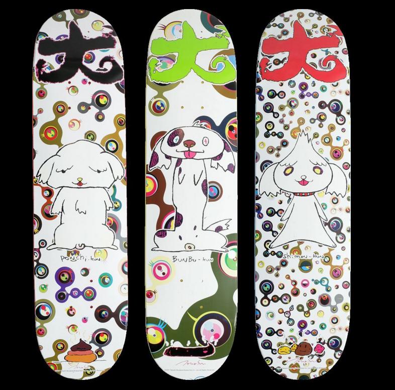 Set of 3 Supreme Takashi Murakami Skateboard Decks