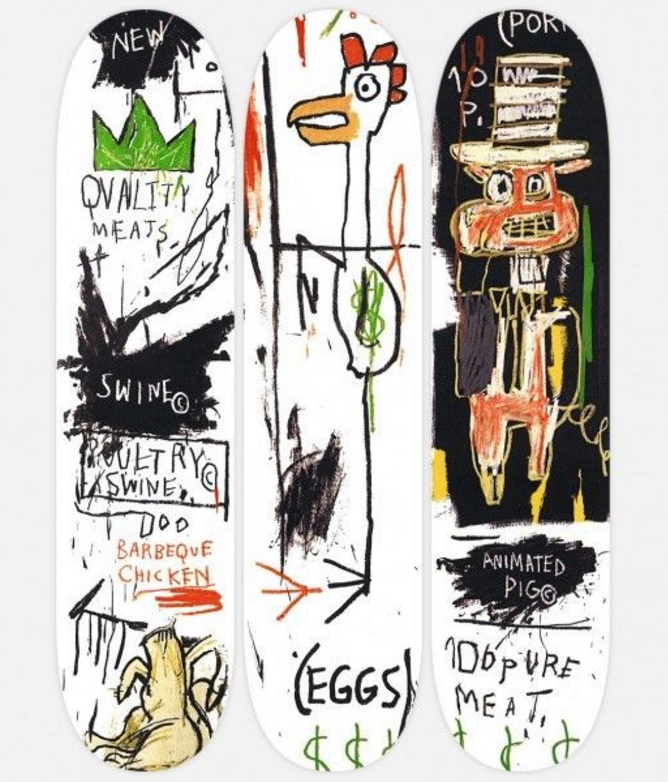 Quality Meats For The Public Basquiat Skateboard Decks