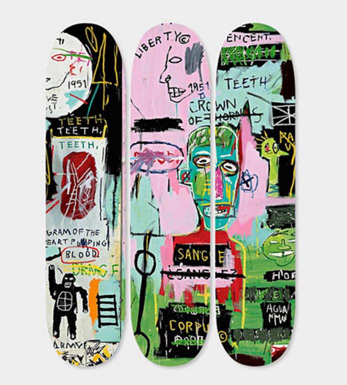 Triptych In Italian Basquiat Skateboard Deck