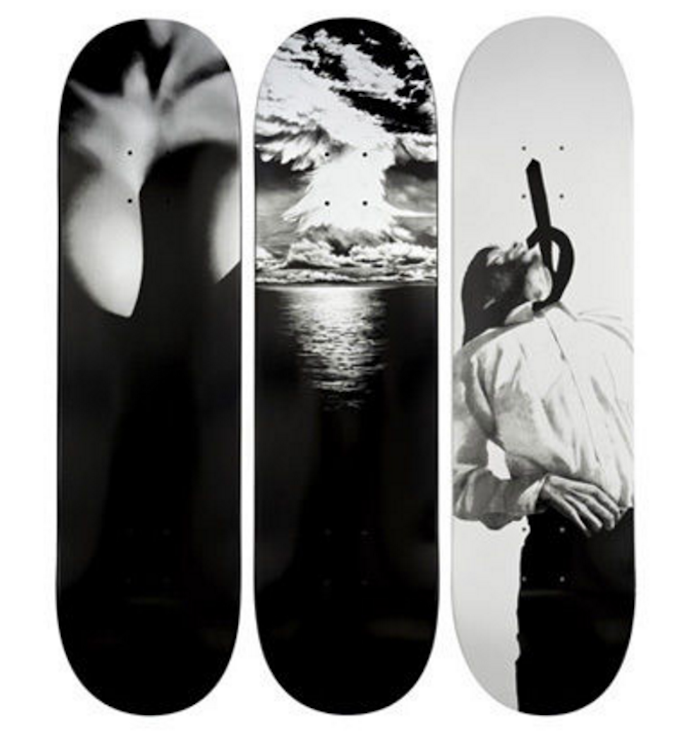 Set of 3 Robert Longo Supreme Skateboards decks