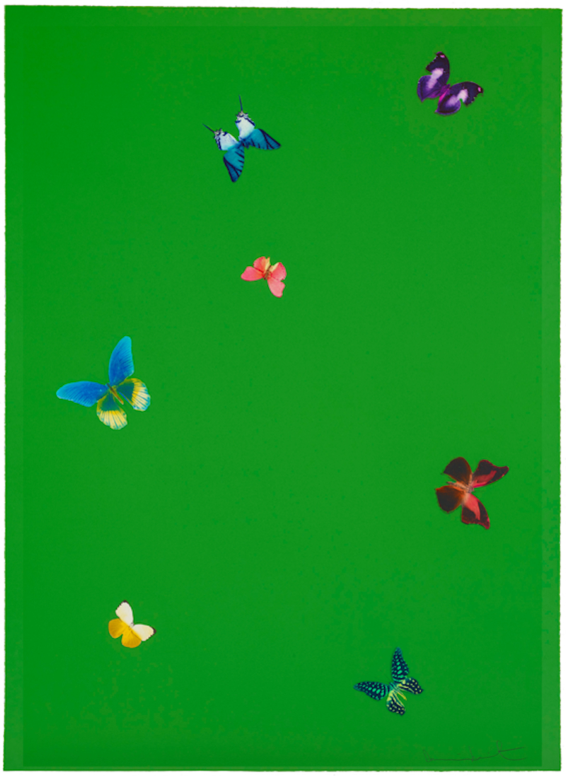 The Wonder of You Green by Damien Hirst