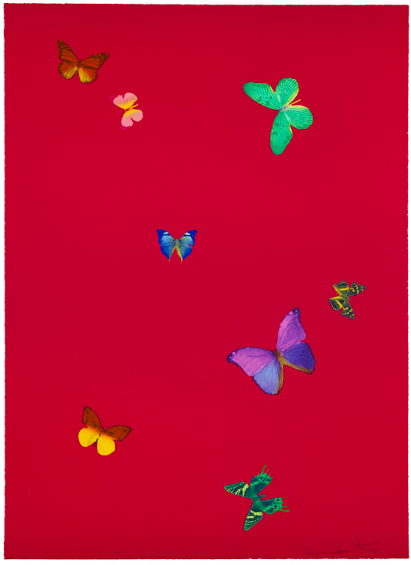 The Wonder of You Red by Damien Hirst