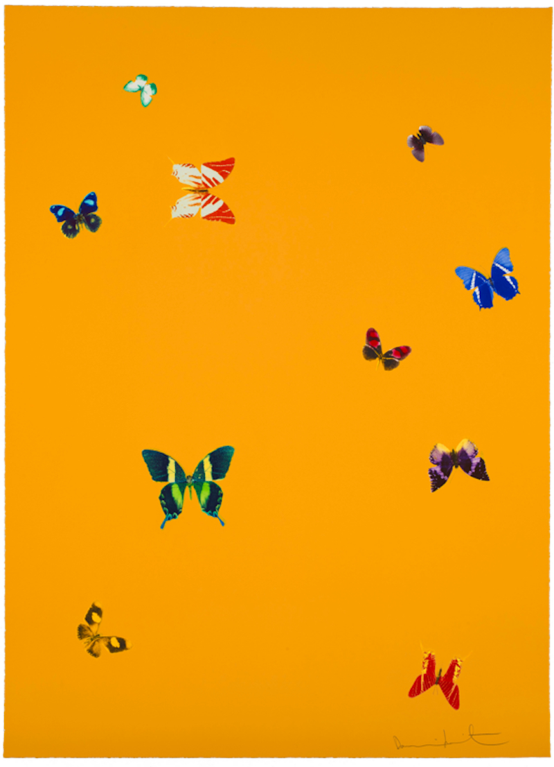 The Wonder of You Yellow by Damien Hirst