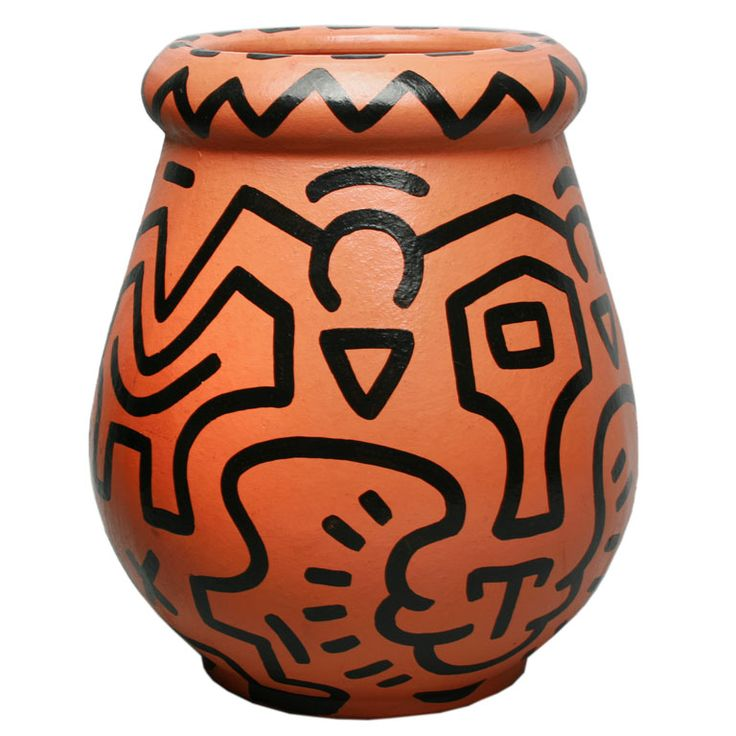 Untitled Vase by Keith Haring