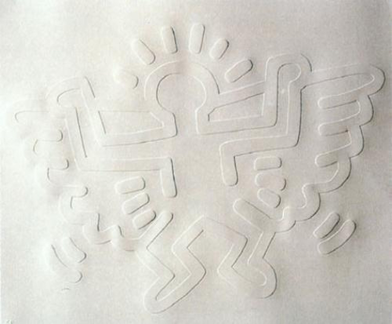 Angel White Icon by Keith Haring