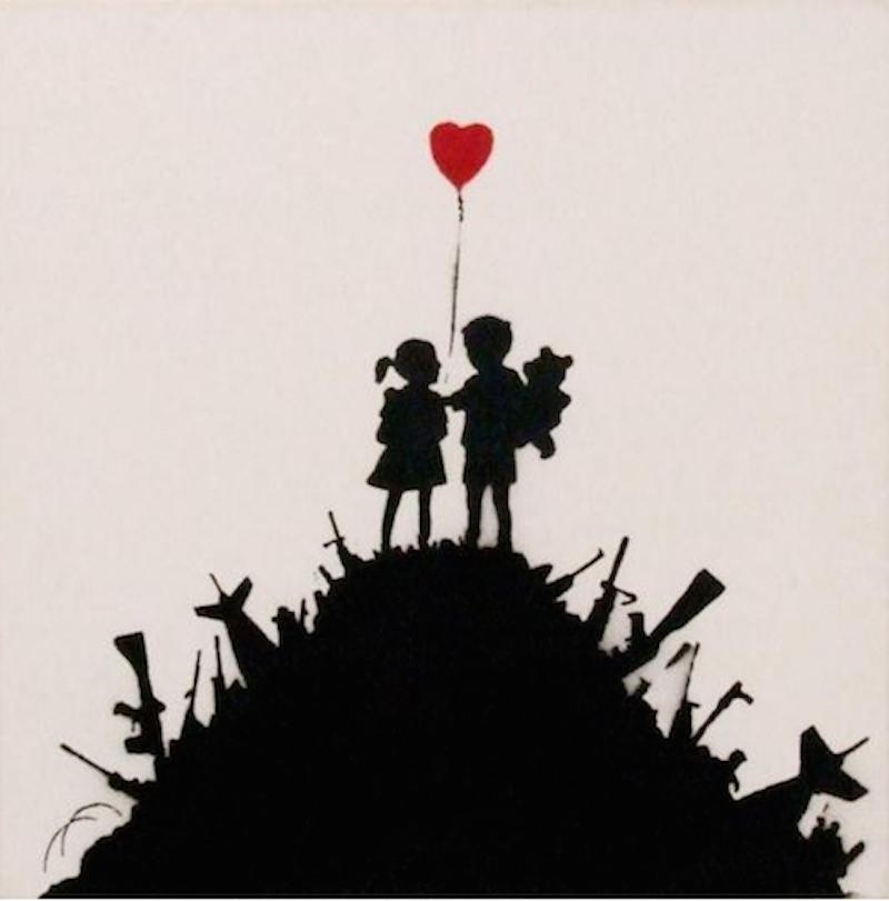 Kids On Guns by Banksy