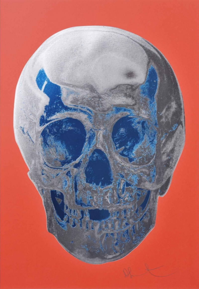 Coral Red Skull by Damien Hirst