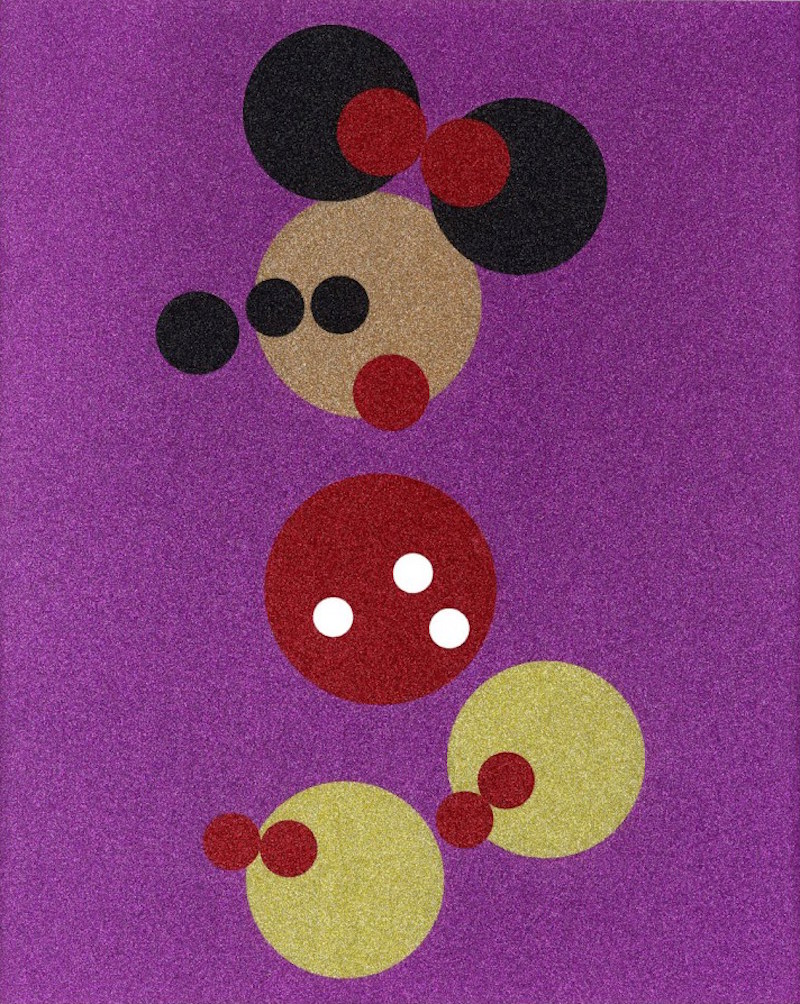 Minnie (Pink Glitter) by Damien Hirst