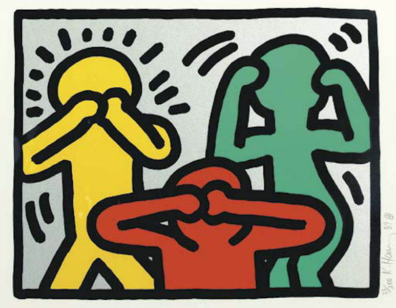 Pop Shop III See No Evil By Keith Haring