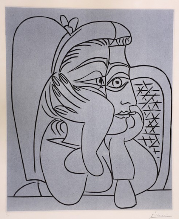 Femme Accoudée by Picasso