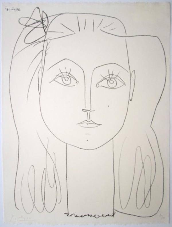 Françoise au Nœud dans les Cheveux by Picasso