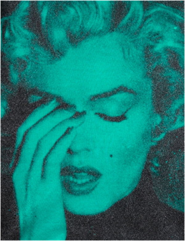 Marilyn Crying Bondi Blue and Black by Russell Young