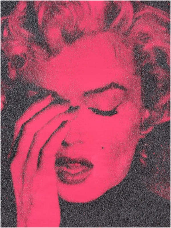 Marilyn Crying Sierra Bonita Pink by Russell Young