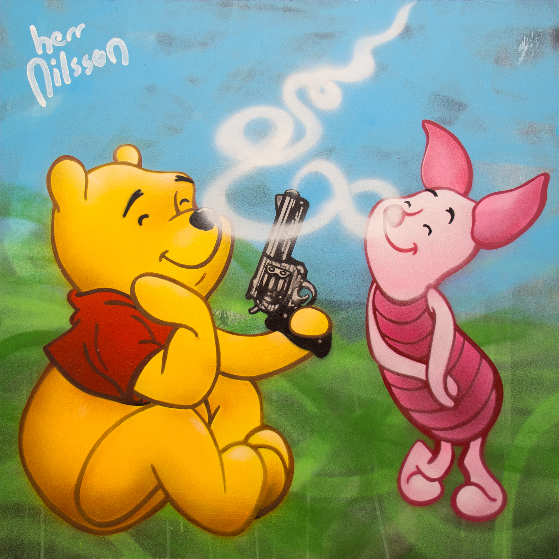 Smoking Piglet by Herr Nilsson