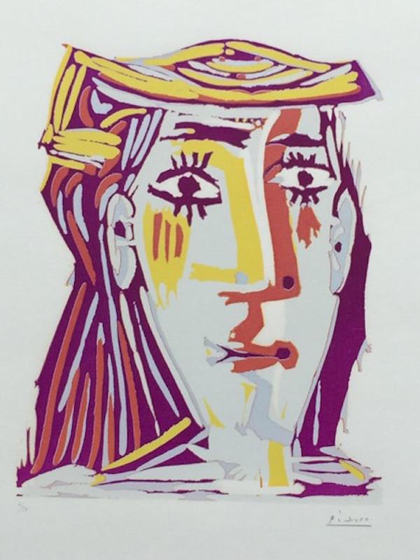 Femme au Chapeau (Portrait de Jacqueline) by Picasso