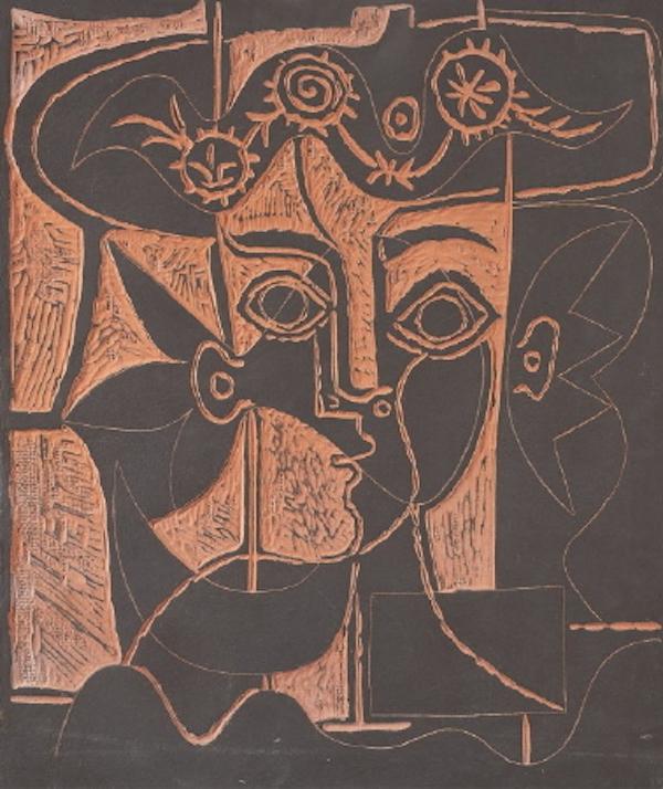 Grande Tête de Femme au Chapeau Orné by Picasso