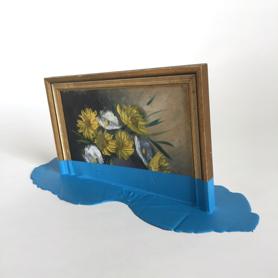 Blue Flower Puddle by TMFA