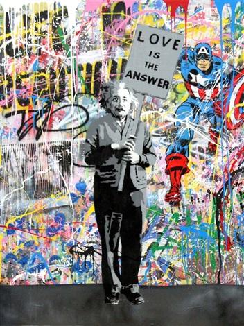 Einstein by Mr.Brainwash