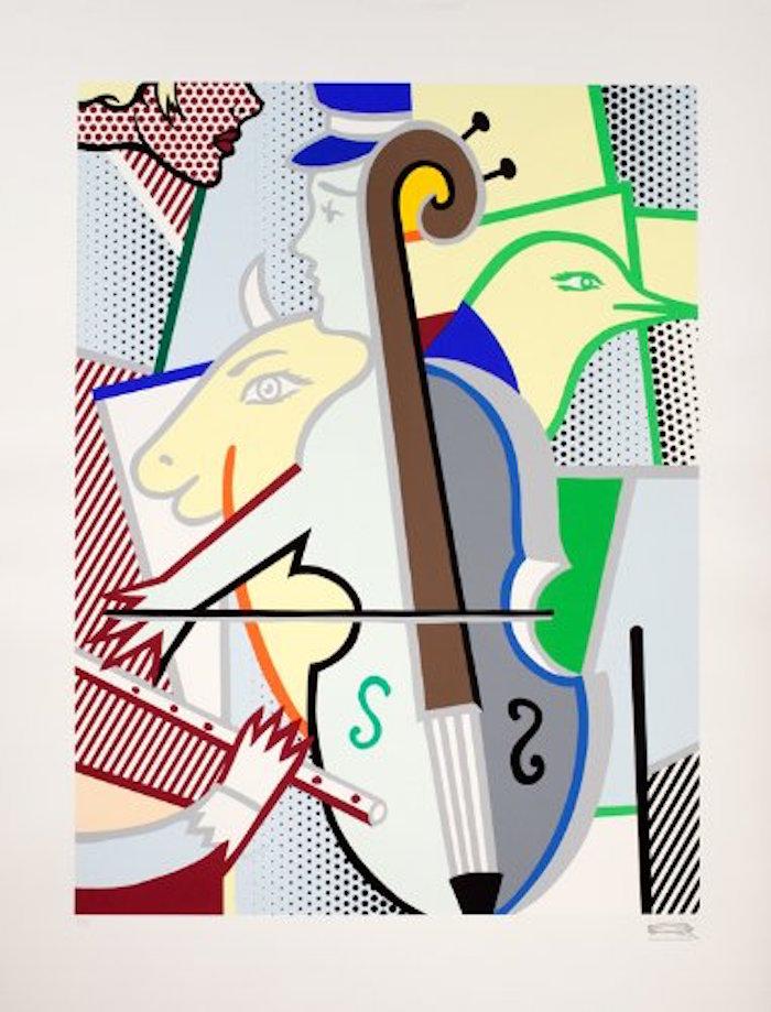 Cubist Cello by Roy Lichtenstein