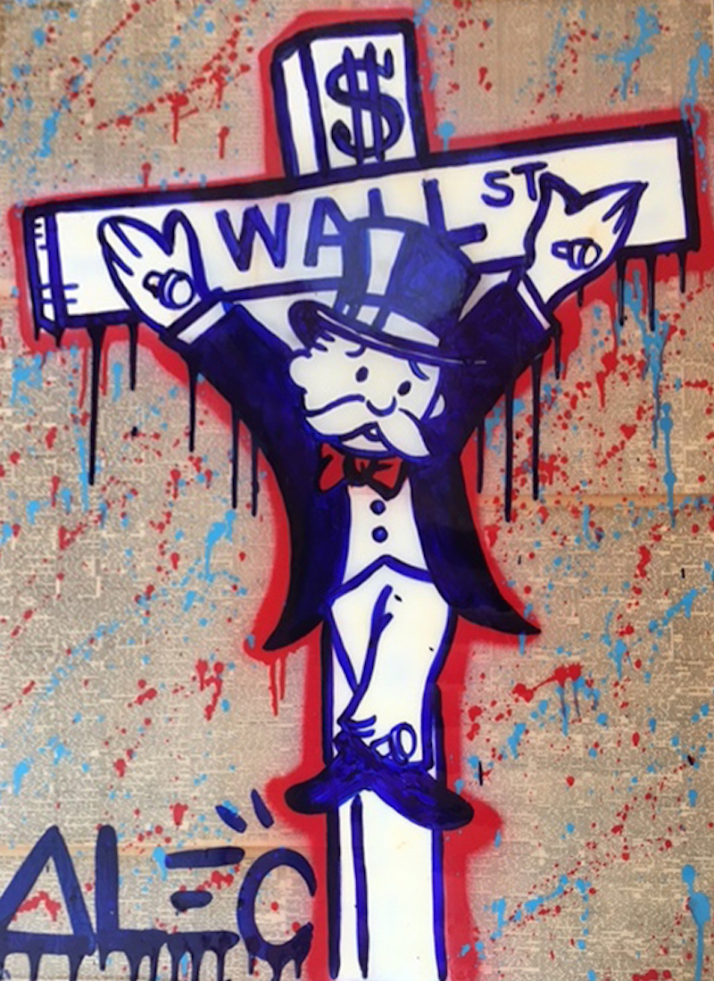 Purple Wall St Crucifix Alec Monopoly