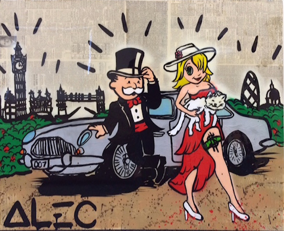 Goldie and Monopoly in London by Alec Monopoly