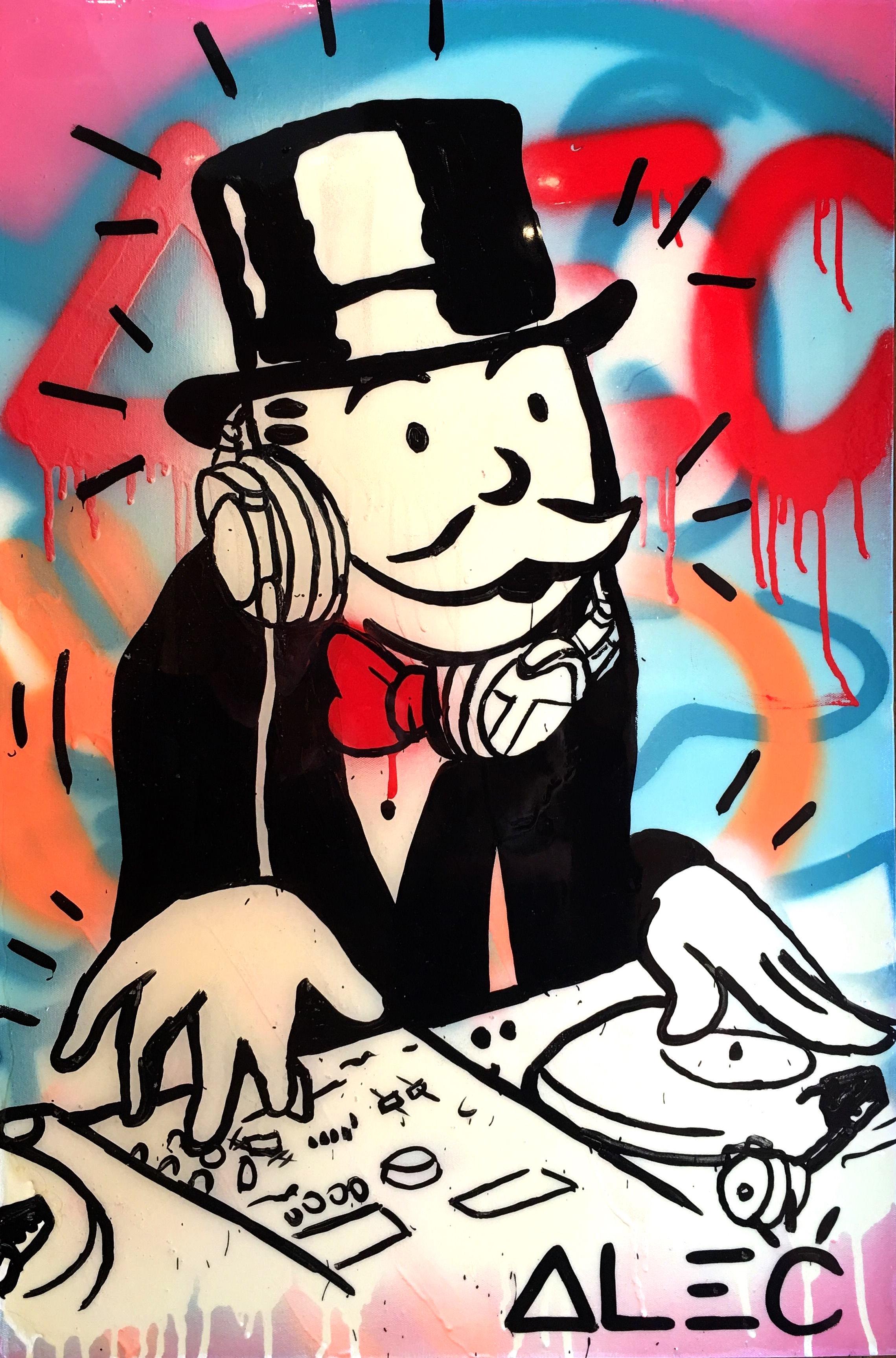 DJ Monopoly color by Alec Monopoly