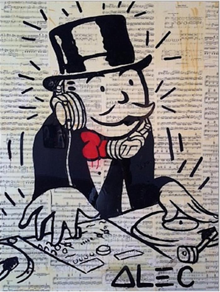 DJ Monopoly, 2013 by Alec Monopoly