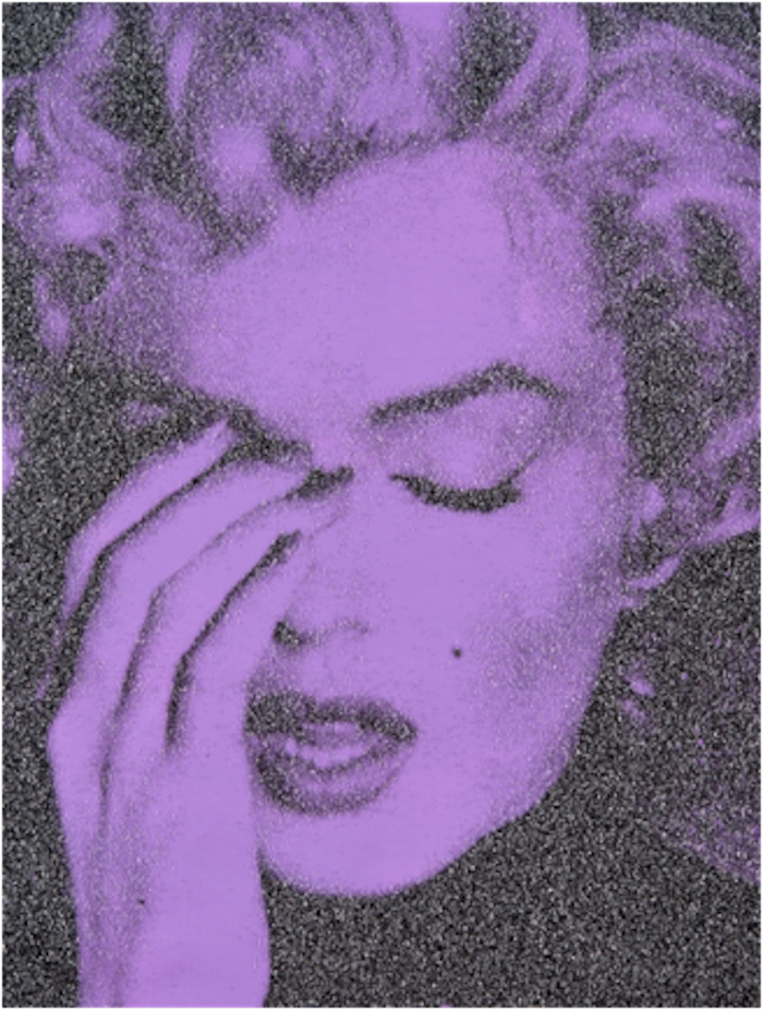 Marilyn Crying (El Centro Purple) by Russell Young