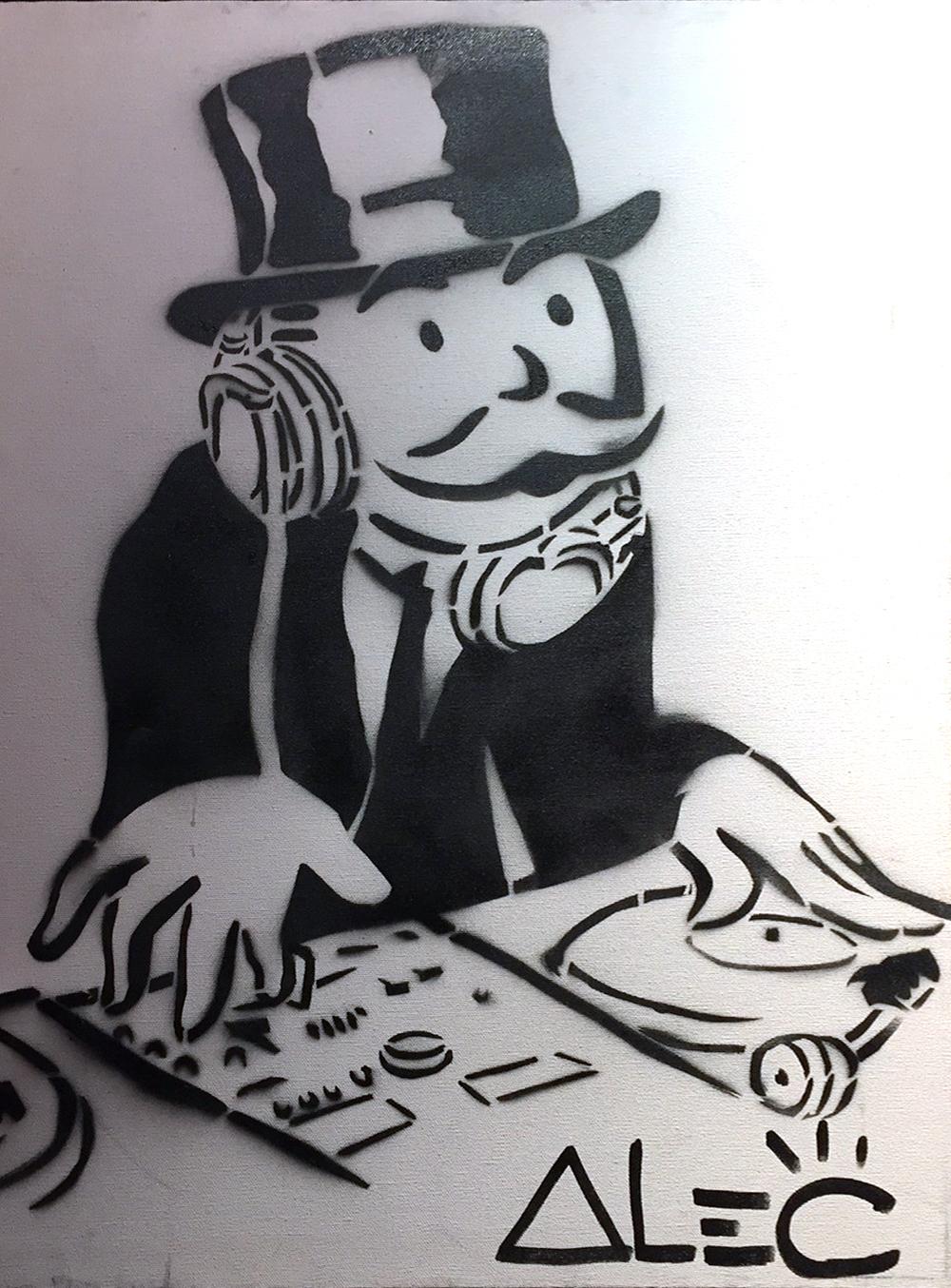 DJ Black & White by Alec Monopoly
