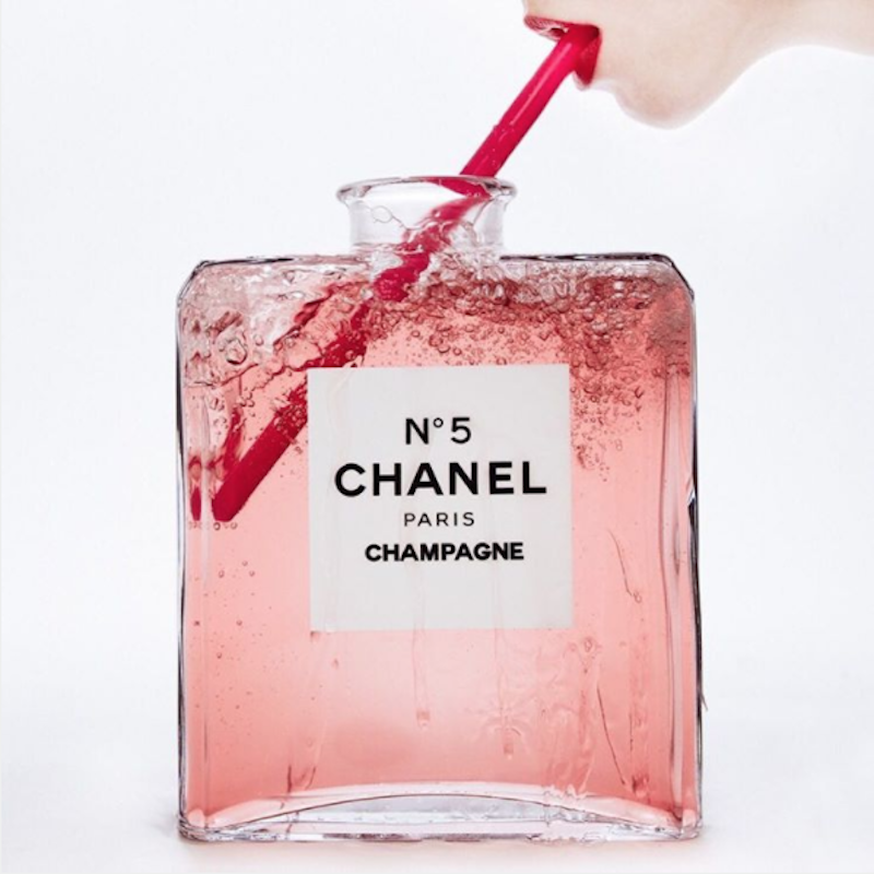 Champagne Chanel No. 5 by Tyler Shields