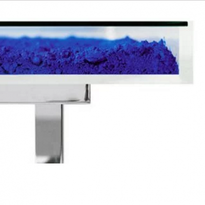 Table Bleue Detail by Yves Klein