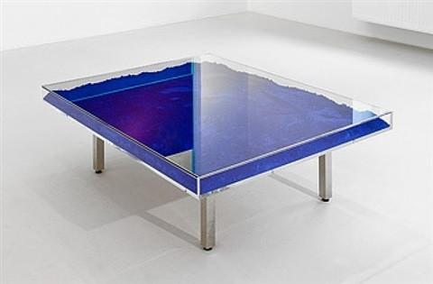 Table Blue Klein by Yves Klein Back