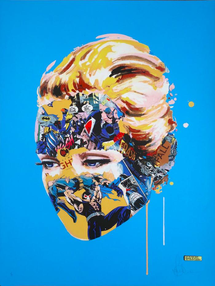 The Cage, Dark Heart (Blue) by Sandra Chevrier