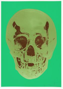 Damien Hirst — Till Death Do Us Part – Viridian Leaf Green Chocolate Skull