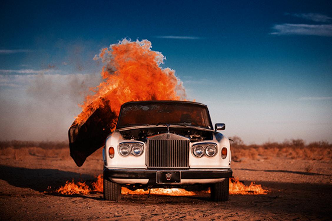 Rolls Royce on Fire by Tyler Shields