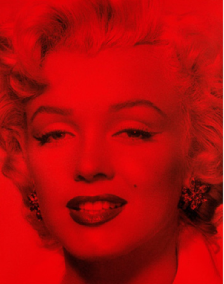 Marilyn Superstar Blind Red by Russell Young