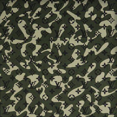 LV Camouflage Denim Dark Takashi Murakami