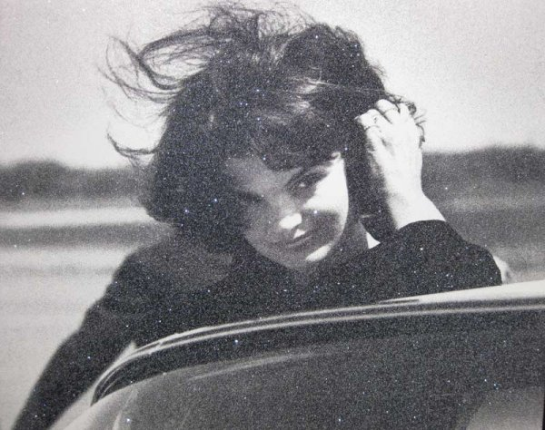 Jackie Kennedy Atomic Silver & Black by Russell Young